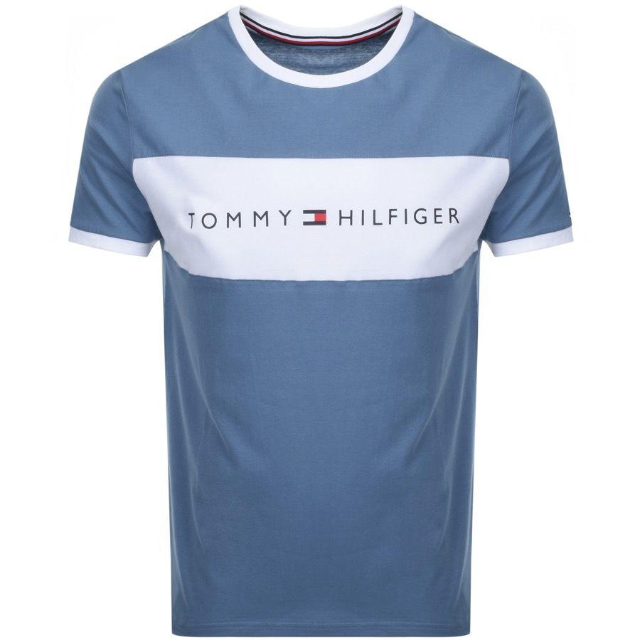 Tommy Hilfiger Logo Flag T Shirt Blue Modesens Tommy Hilfiger T Shirt Shirts Blue Tommy Hilfiger