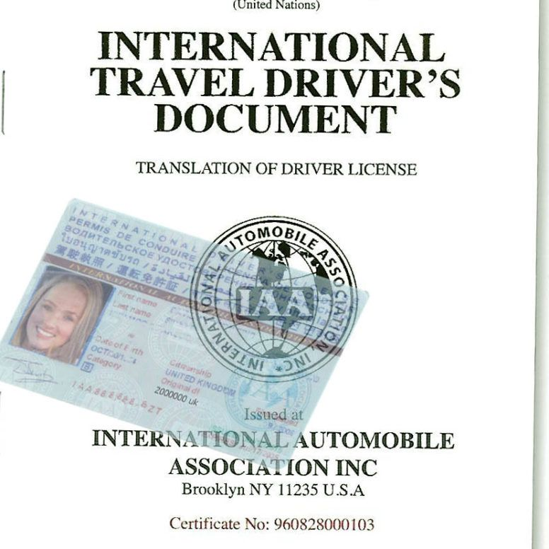International Drivers License Idl Office Thailand Located In