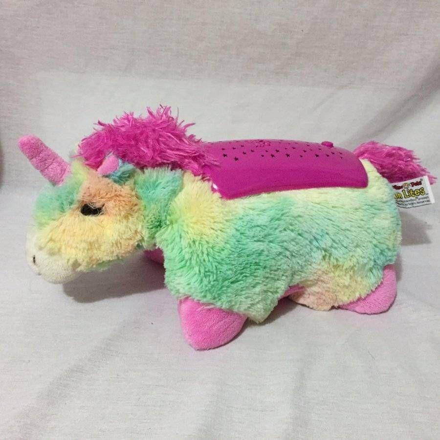 Dream Lites Rainbow Rain Unicorn My Pillow Pets Night Light Stars Pillowpets Animal Pillows Night Light Rainbow Unicorn