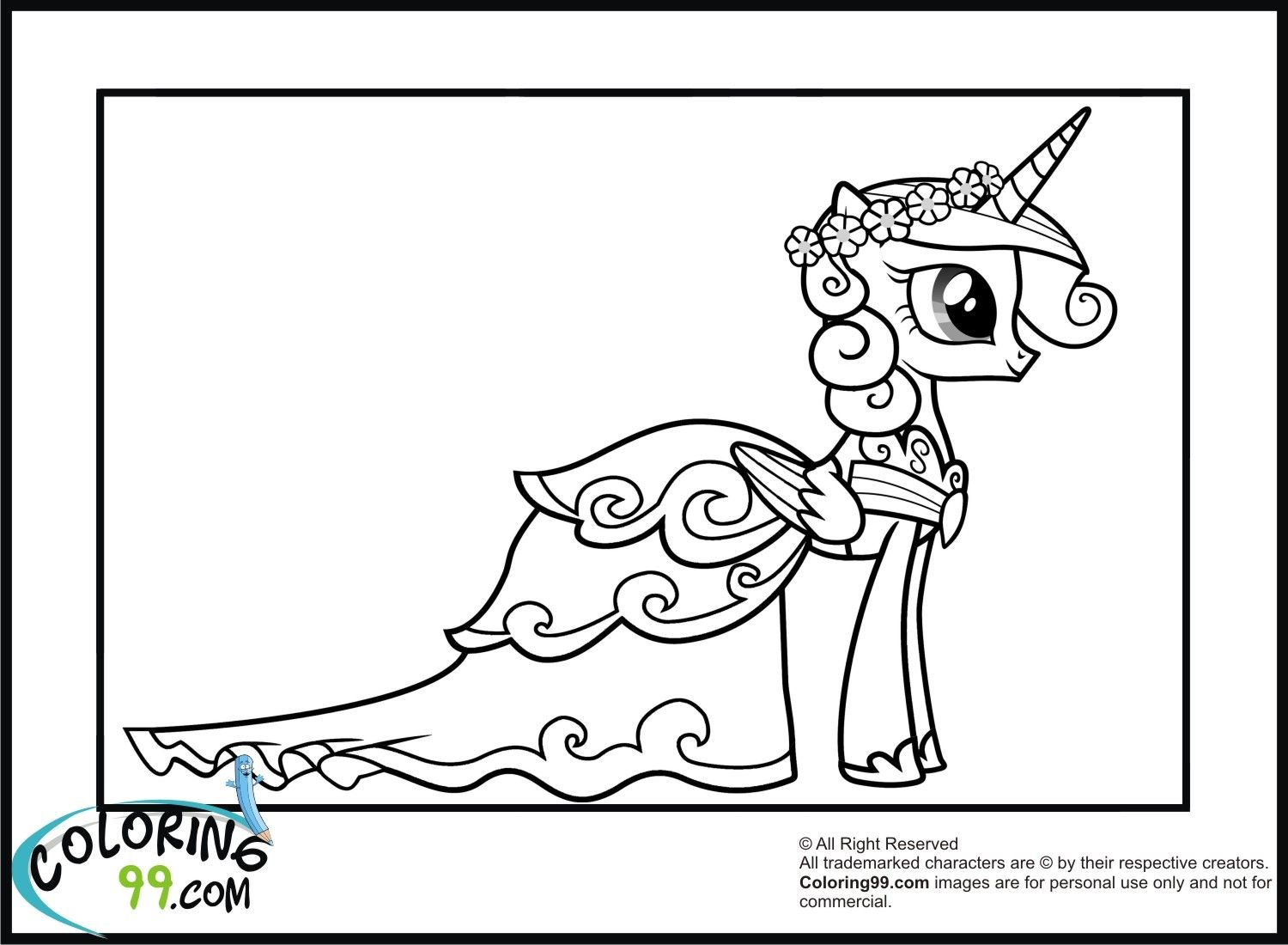 My Little Pony Princess Cadence Coloring Pages With Images