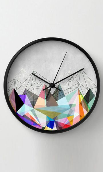 Pattern Wall Clock Product Design Clock Unique Wall