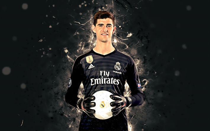 Download Wallpapers Thibaut Courtois, 4k, Season 2018-2019