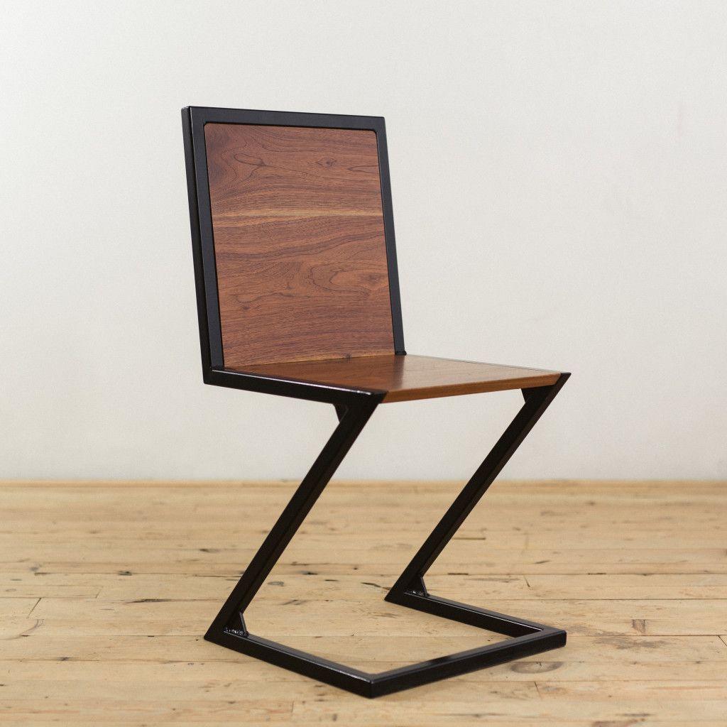 Walnut And Powder Coated Steel Z Chair Planos De Muebles