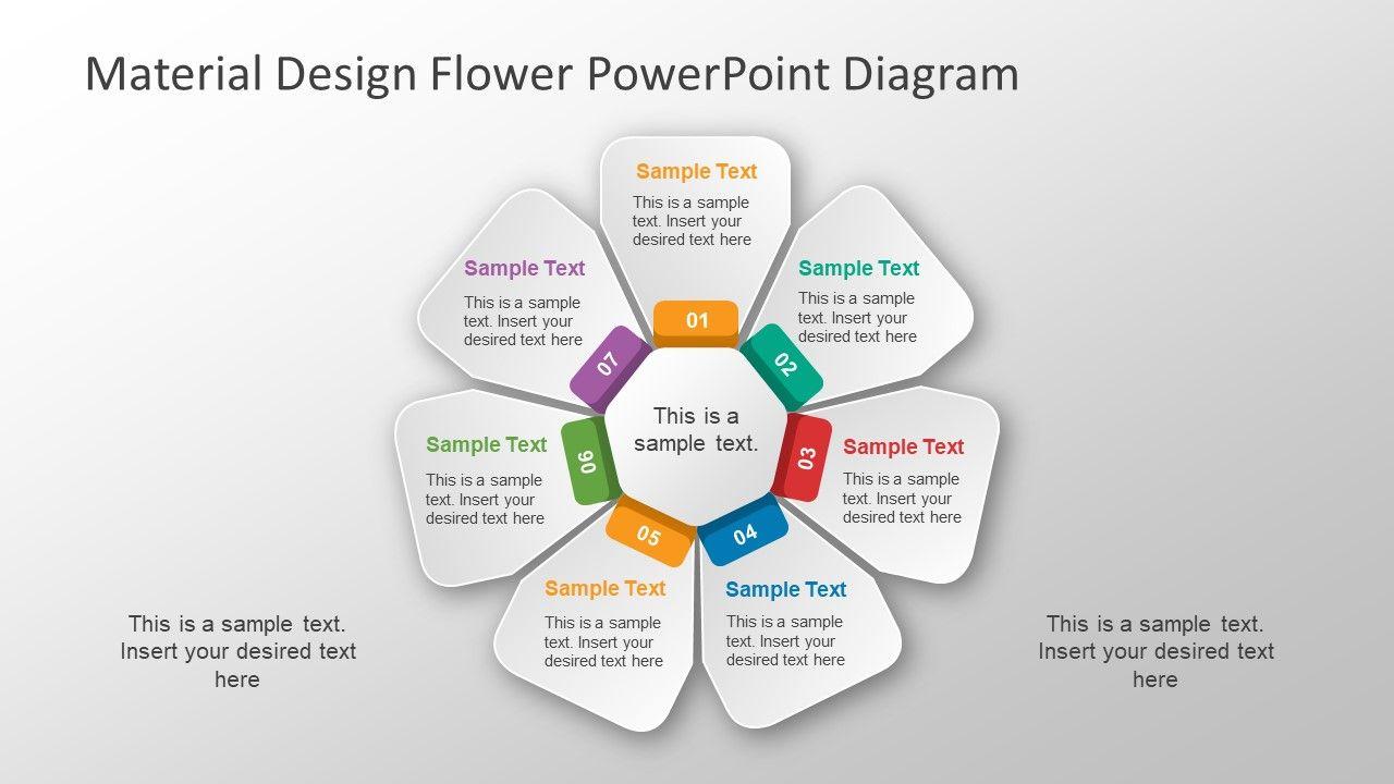 Material Design Flower Powerpoint Diagram Slidemodel Powerpoint Template Free Powerpoint Templates Powerpoint Slide Designs