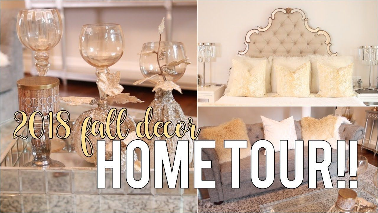My Fall Decor Tour 2018!! Decor Inspiration #HouseToHome | NitraaB - YouTube