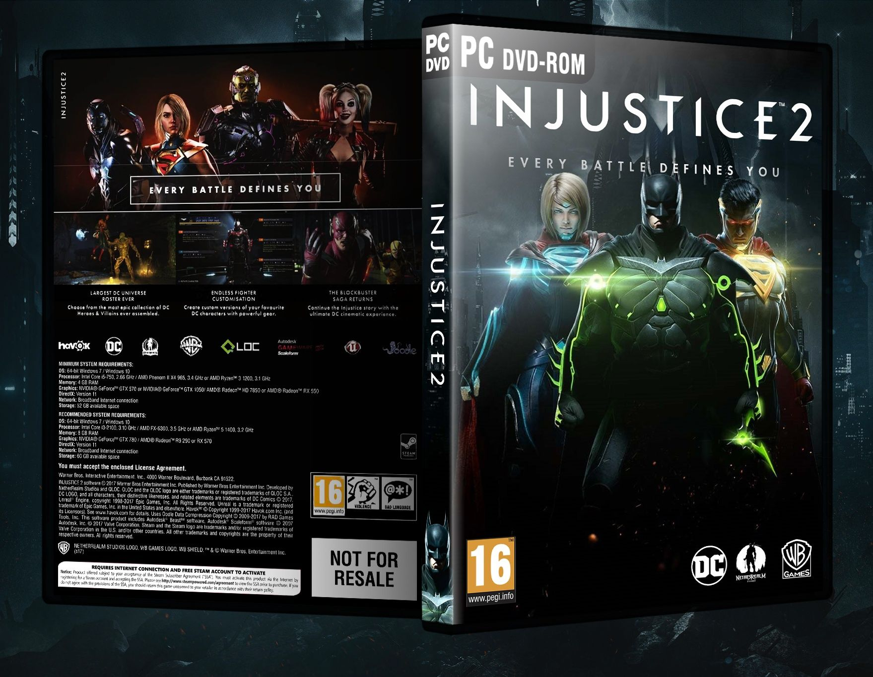 Injustice 2 Box Art Cover Pc Dvd Covers Pinterest Ps4 Region 3