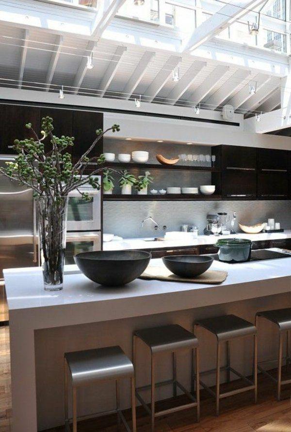 Moderne Küchen mit Kochinsel kochinsel maße schüssel | Küche ...