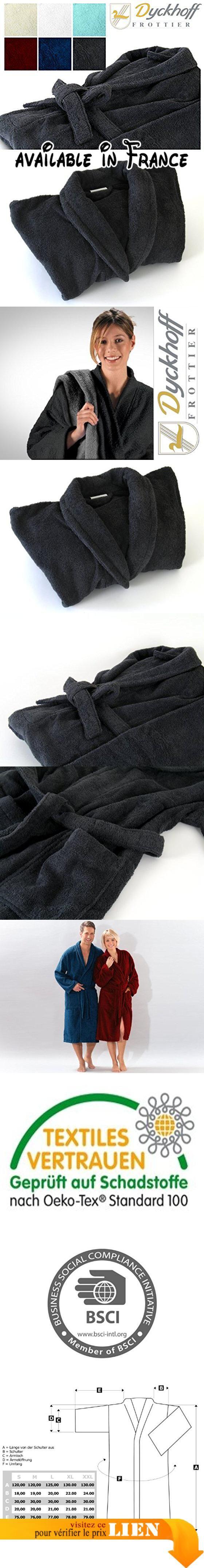 Dyckhoff Peignoir à col châle Tissu éponge Pour femme et homme, Coton, anthracite, Taille L.  #Kitchen #HOME_BED_AND_BATH