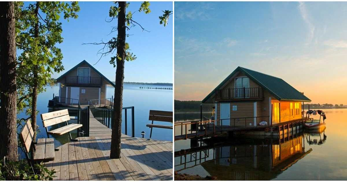 You Can Rent Floating Cabins On This Beautiful Oklahoma Lake In 2020 Oklahoma Lakes Romantic Getaways In Oklahoma Oklahoma Lake House
