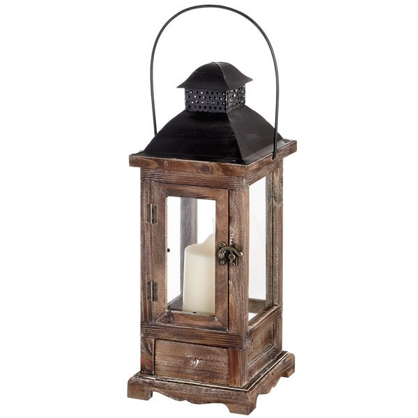 Antique Lanterns | Antique Brown Wooden Lantern (4569) | Lanterns | Wholesale Interior ...