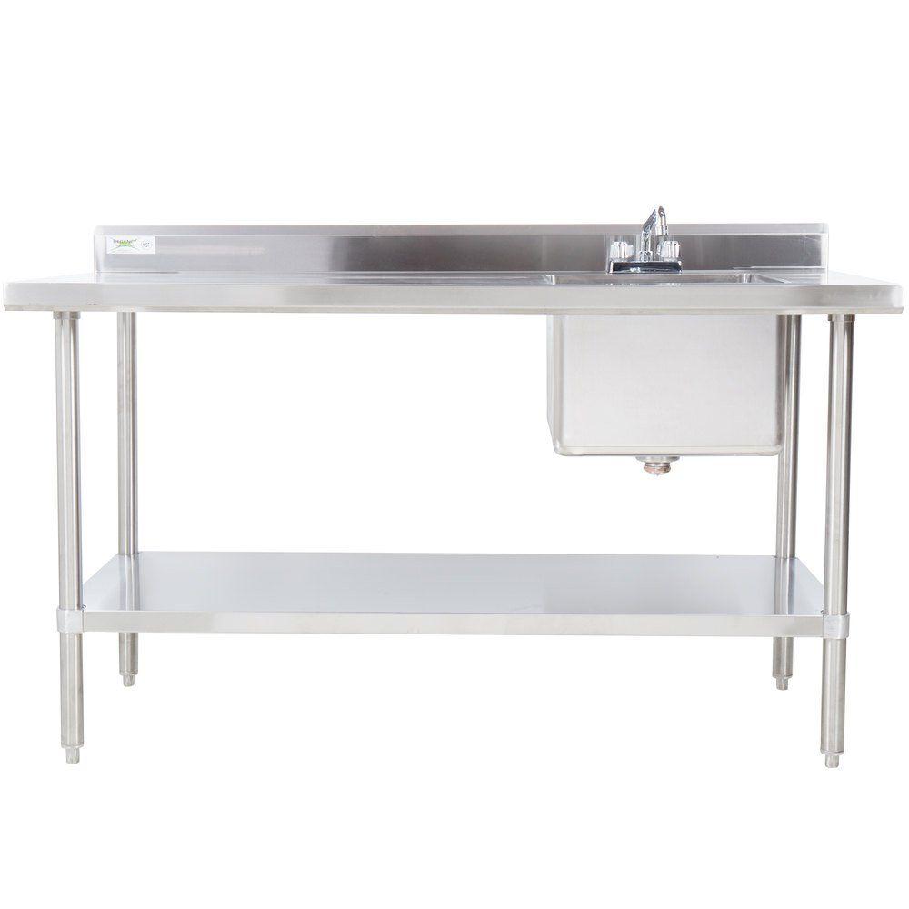 "Regency 30"" x 48"" 16 Gauge Stainless Steel Work Table with ..."