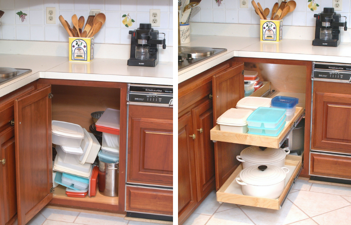 organization nightmares 10 before after remodels with shelfgenie home decor kitchen design on kitchen organization before and after id=50819