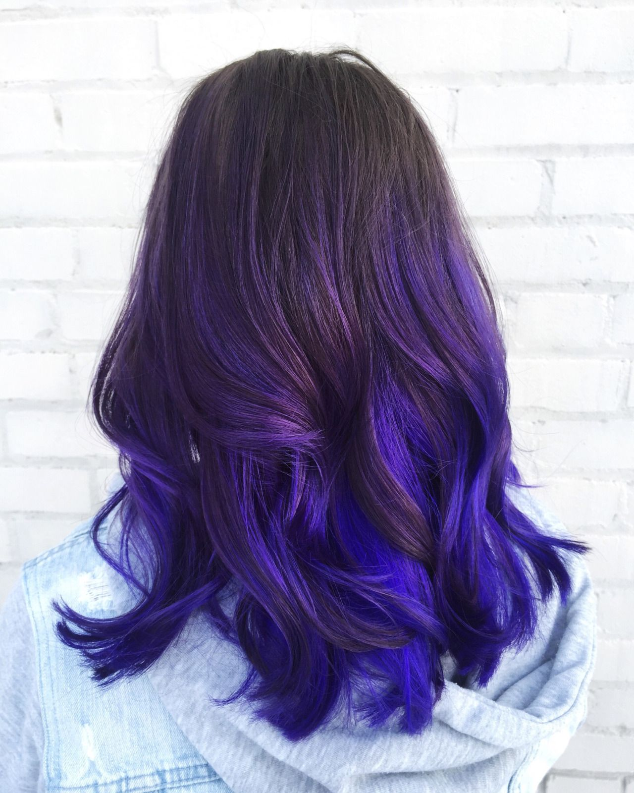 trendy ombre hairstyles brunette blue red purple green