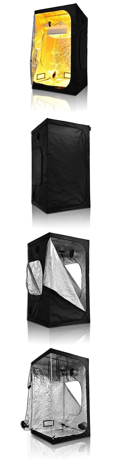 Tents Tarps and Shelves 178993 48X48x84 100% Reflective Mylar Hydroponics Grow Tent Non Toxic  sc 1 st  Pinterest & Tents Tarps and Shelves 178993: 48X48x84 100% Reflective Mylar ...