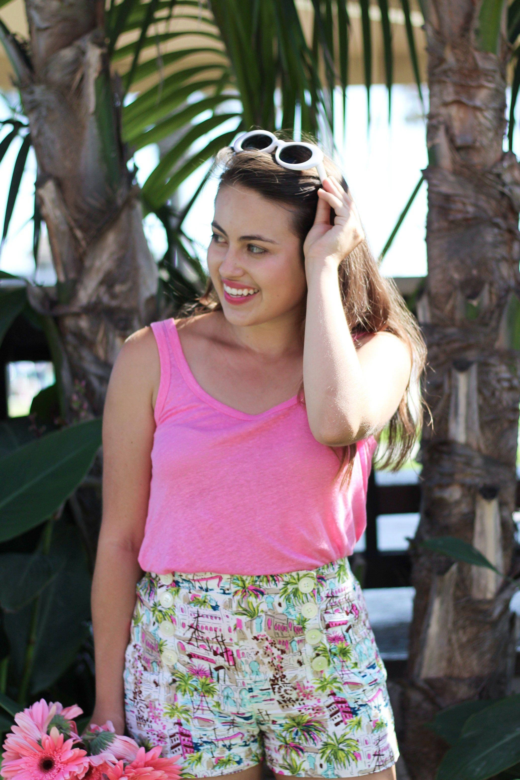 Biking on Balboa: Harbor Print Sailor Shorts & Pink Top - Young ...