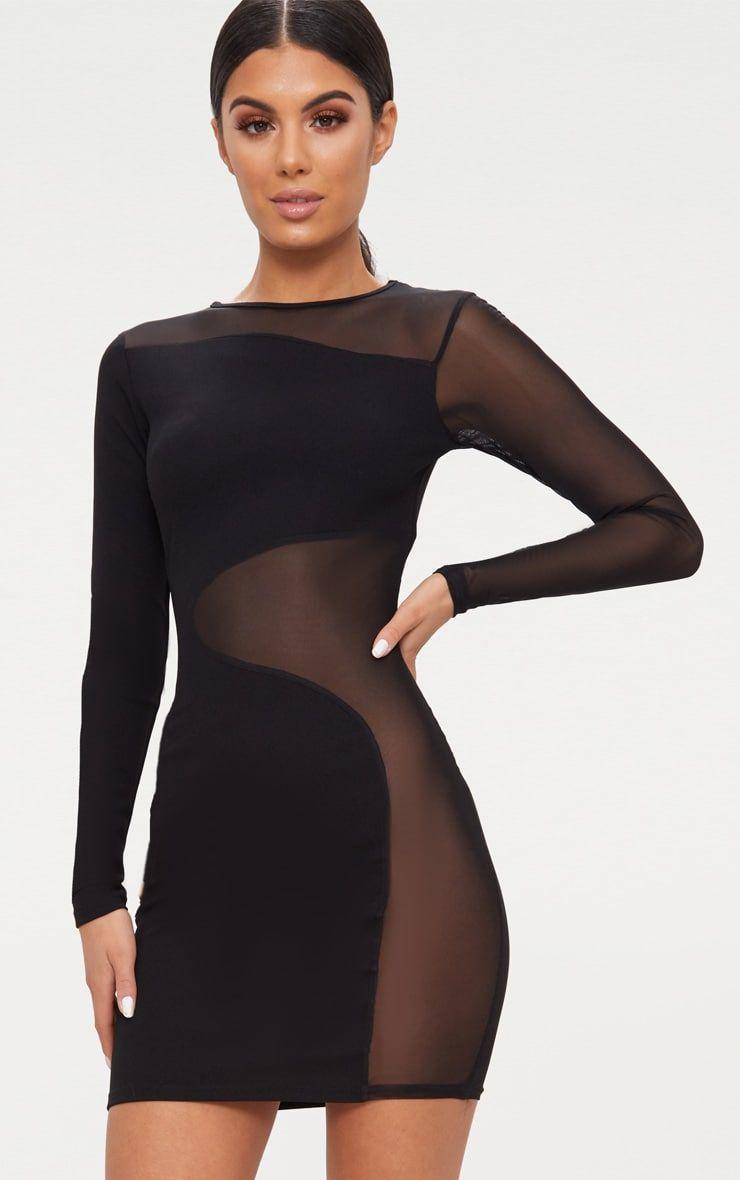12++ Black mesh dress information
