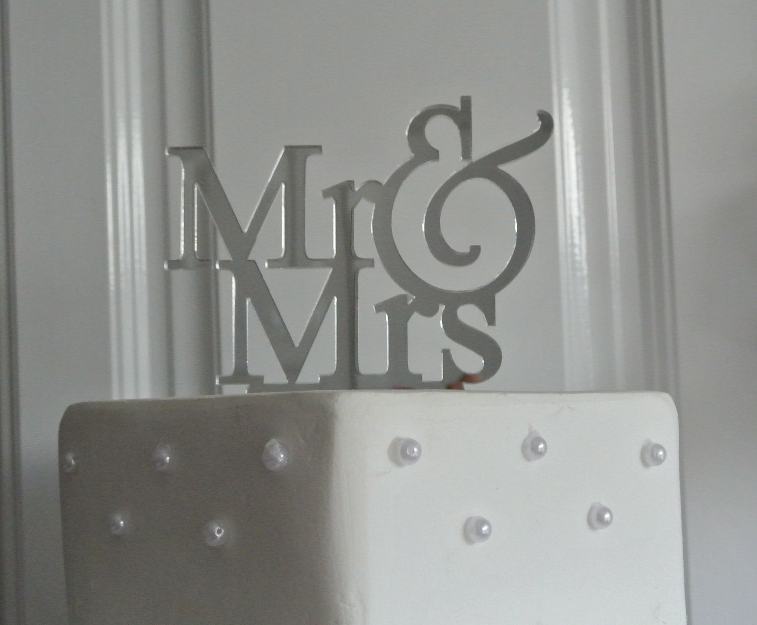 Mr and mrs cake topperwedding cake toppersilhouette cake topper