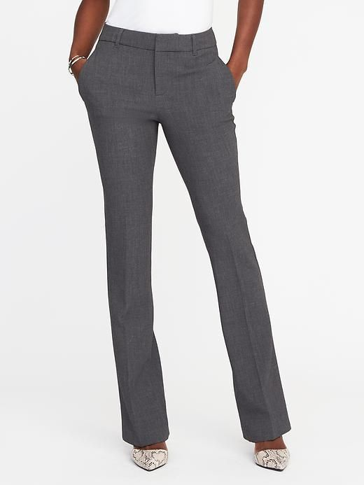 Women/'s Soft Grey Old Navy Harper Mid Rise Dress Pants Size 14