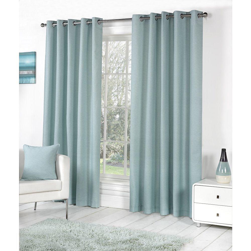 Tesco Direct Fusion Sorbonne Eyelet Lined Curtains Duck Egg Blue 90x90 Blue Bedroom Decor Plain Curtains Ready Made Eyelet Curtains