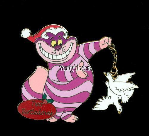 disney 12 twelve days of christmas alice cheshire cat two turtle doves le pin