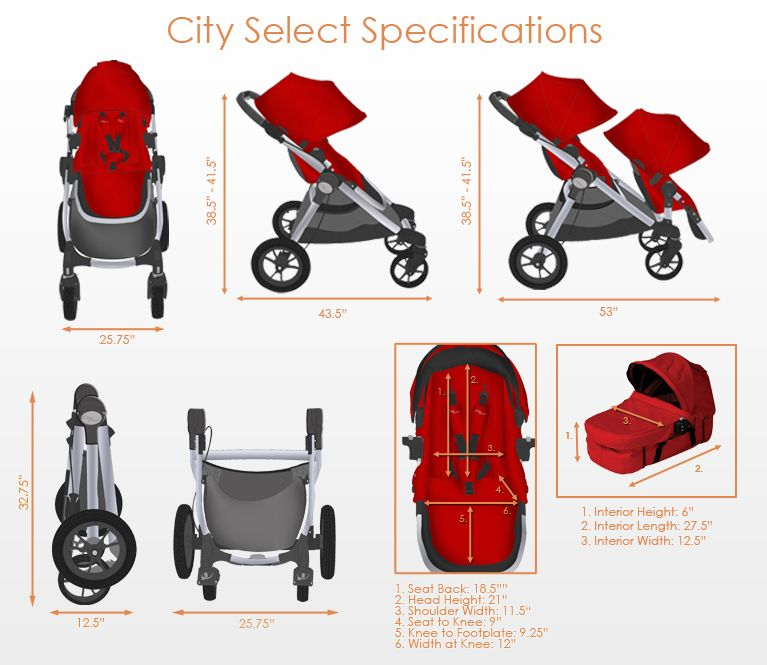 Baby Jogger City Select Stroller 2016 In Silver Black Frame