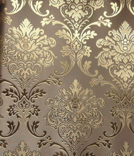 LT6 60407 Fashion European Modern Style Wall Paper Luxury Vinyl Gold Foil Decorative Pattern Background Wallpaper