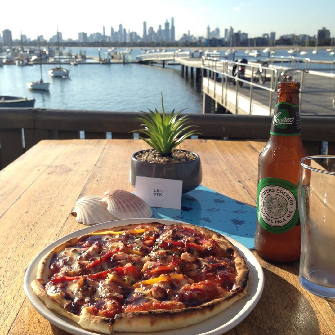 Beat the Monday blues here at Little Blue! Pop down on Monday or Wednesday for our Pizza amp; Beer happy hour; at just $15 per head, its great for a late lunch or early dinner! .See you soon ...#stkilda