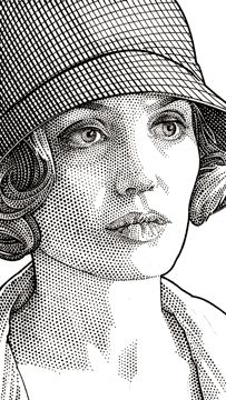Wall Street Journal Hedcuts by Randy Glass, via Behance Gallery. 105 stippled images many portraits of the famous.