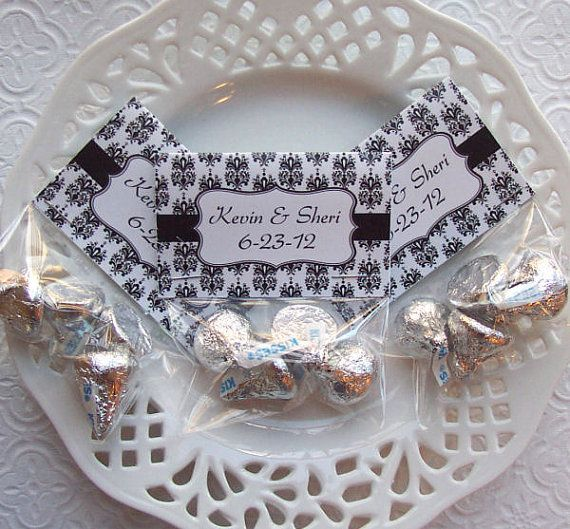 Printable Black And White Damask Wedding Favor By PinkPosyPaperie 400