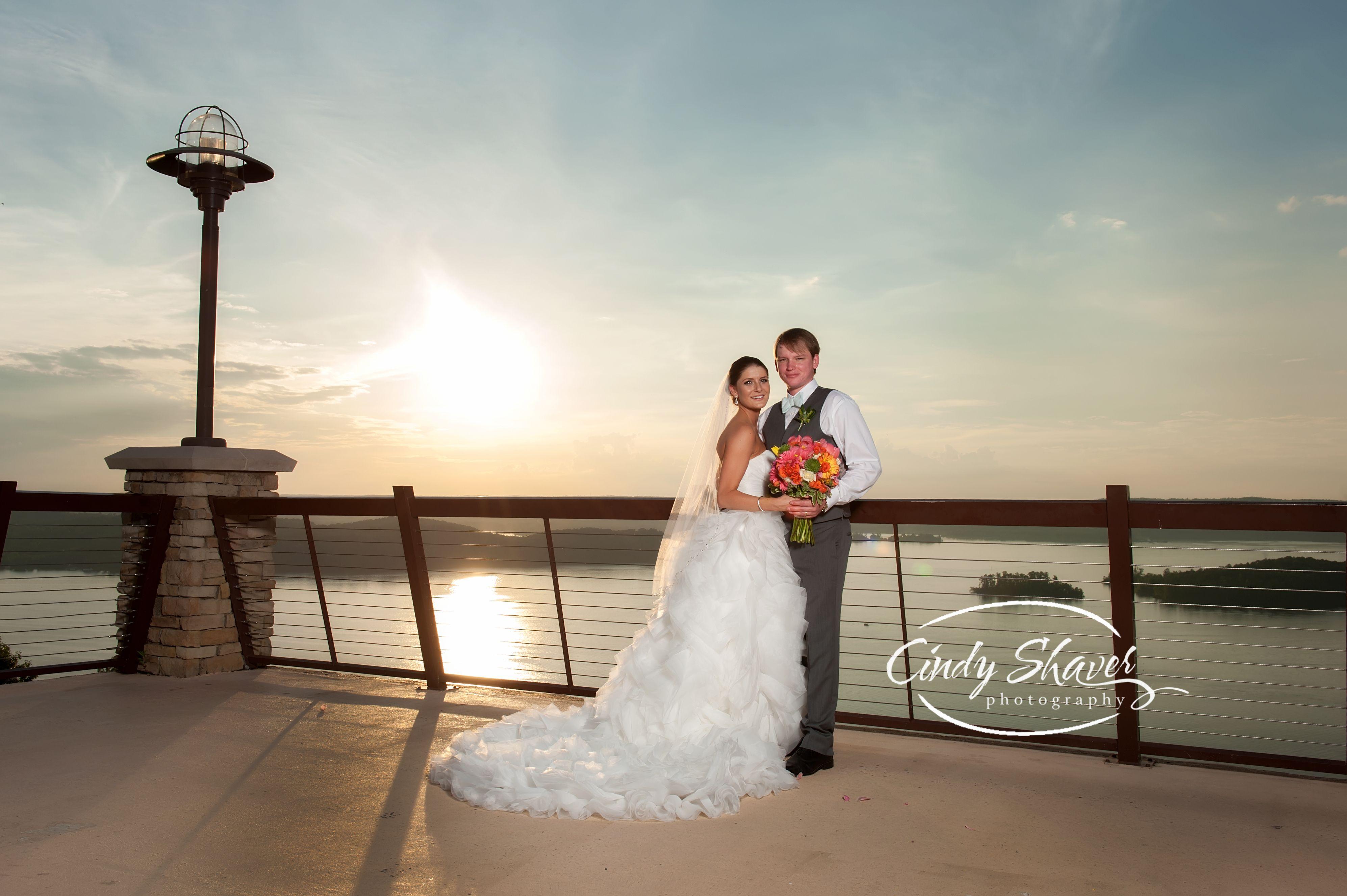 Guntersville Lodge Wedding Bride And Groom Alabama Photography Lake