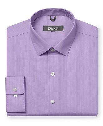 Kenneth Cole Reaction Dress Shirt, Tonal Stripe Long-Sleeved Shirt - Dress Shirts - Men - Macy's