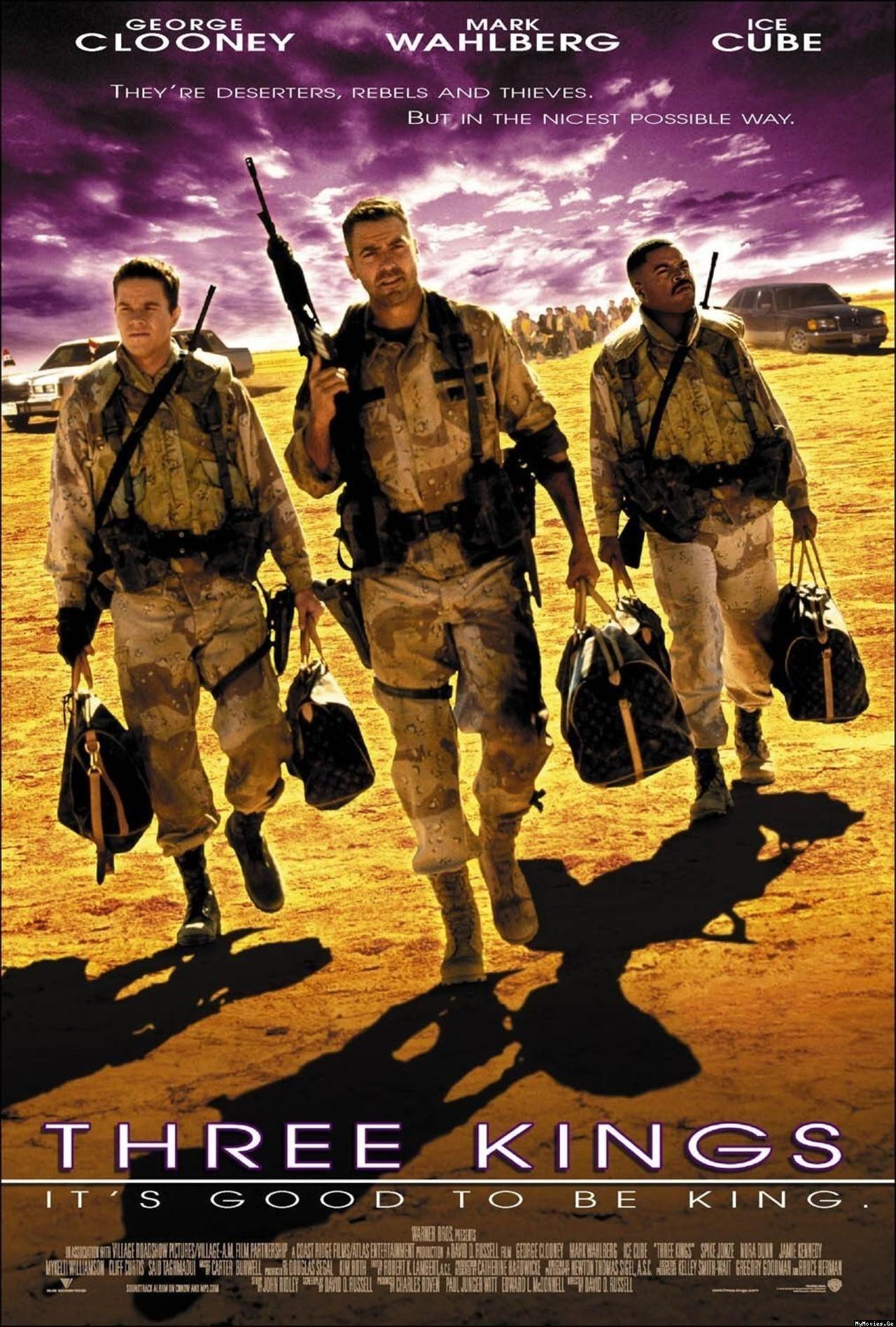 Three Kings 1999 Kings Movie Hd Movies Movie Posters