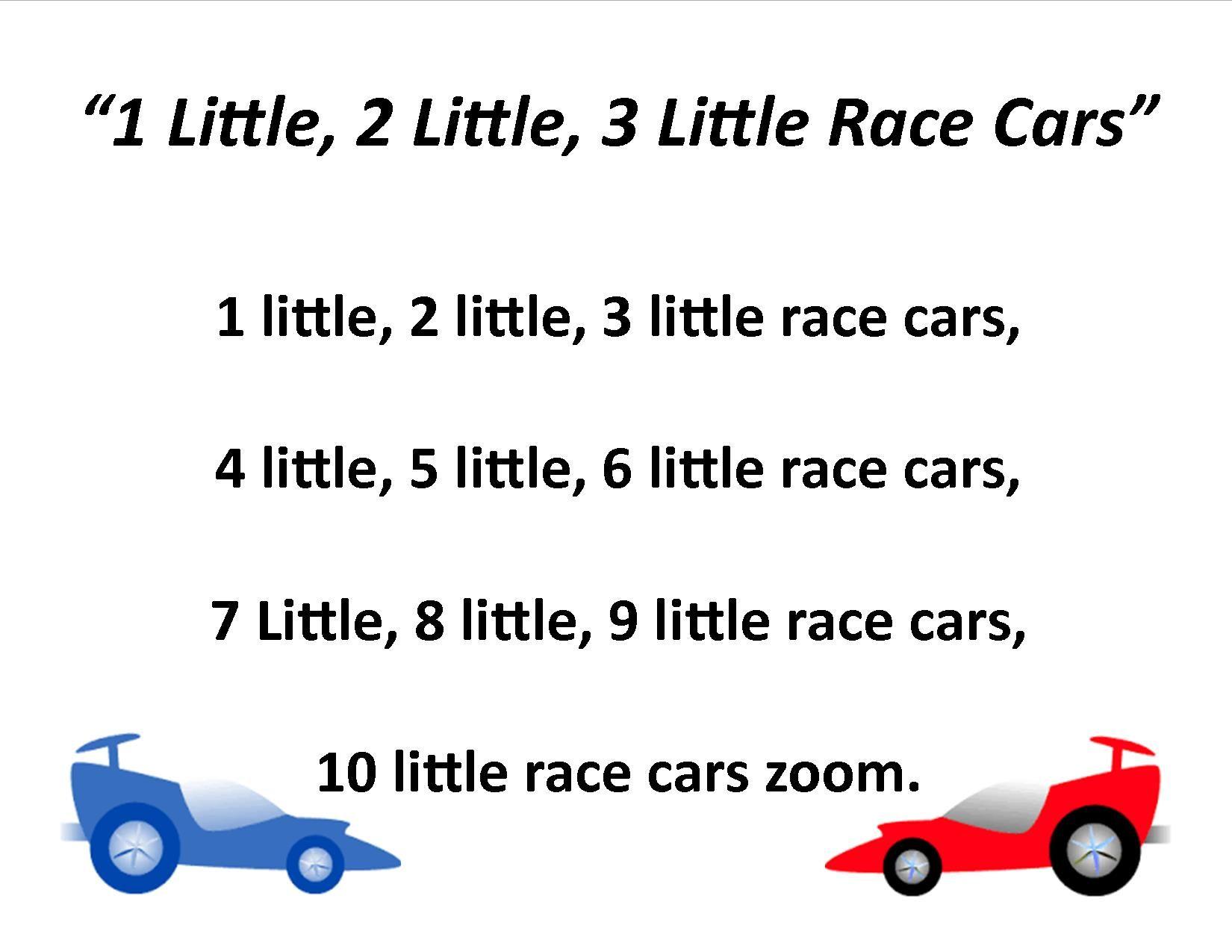 Honk Honk 1 Little 2 Little 3 Little Race Cars