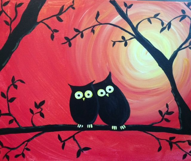 Owls 1 At Manderley On The Green Golf Course Paint Nite Events
