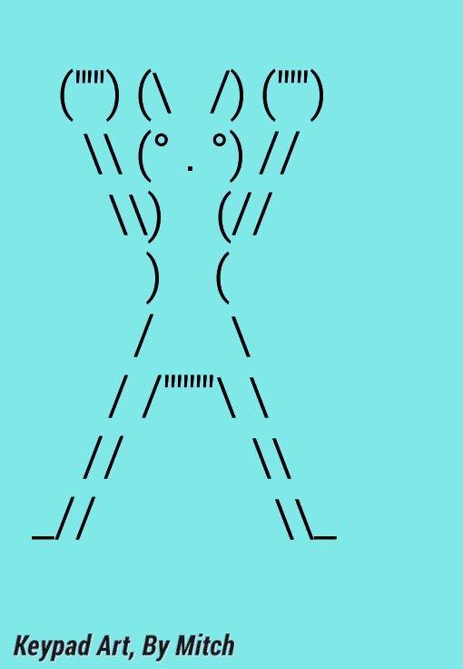 Keyboard Symbol Art By Mitch Pitt Boxing Bunny Art Pinterest
