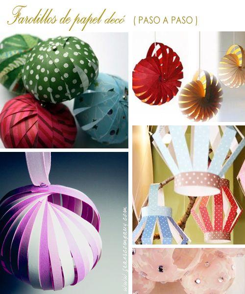 Ideas para hacer con ni os farolillos de papel paso a for Como hacer una pileta de material paso a paso