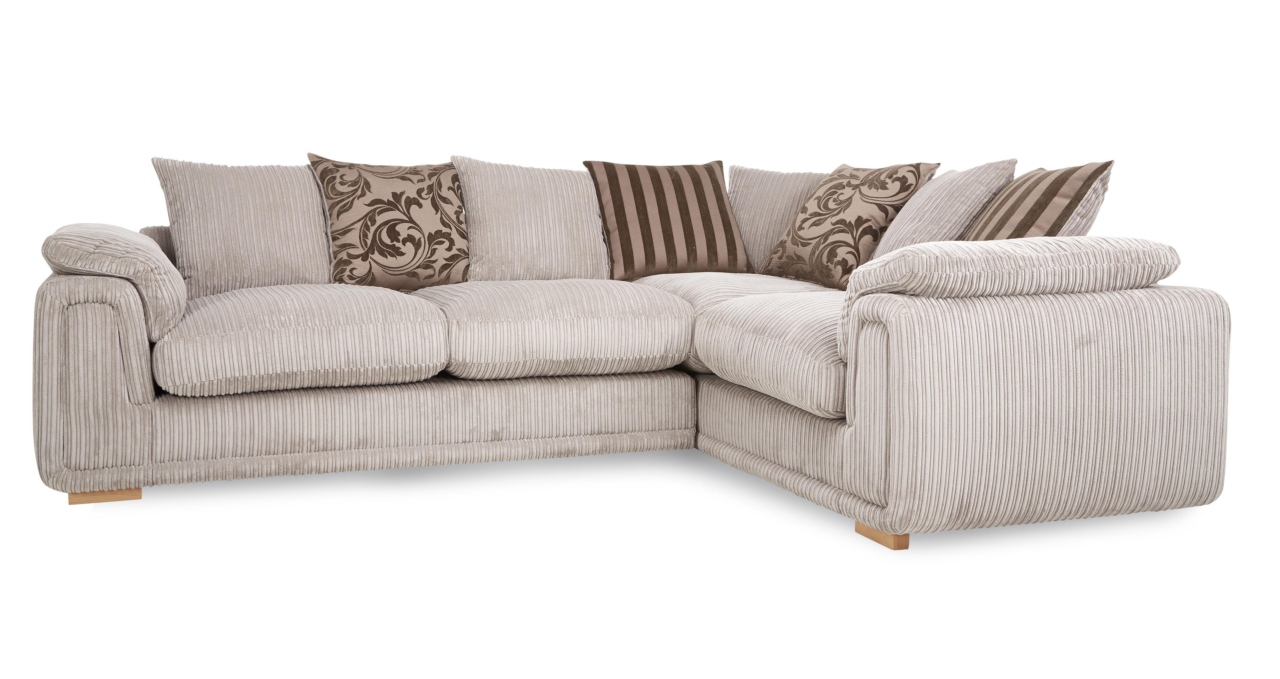 Lottie Left Arm Facing 2 Seater Pillow Back Corner Sofa Celine
