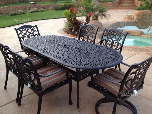 tavolo-con-sedie-da-giardino | Tavoli ferro battuto e mosico | Pinterest
