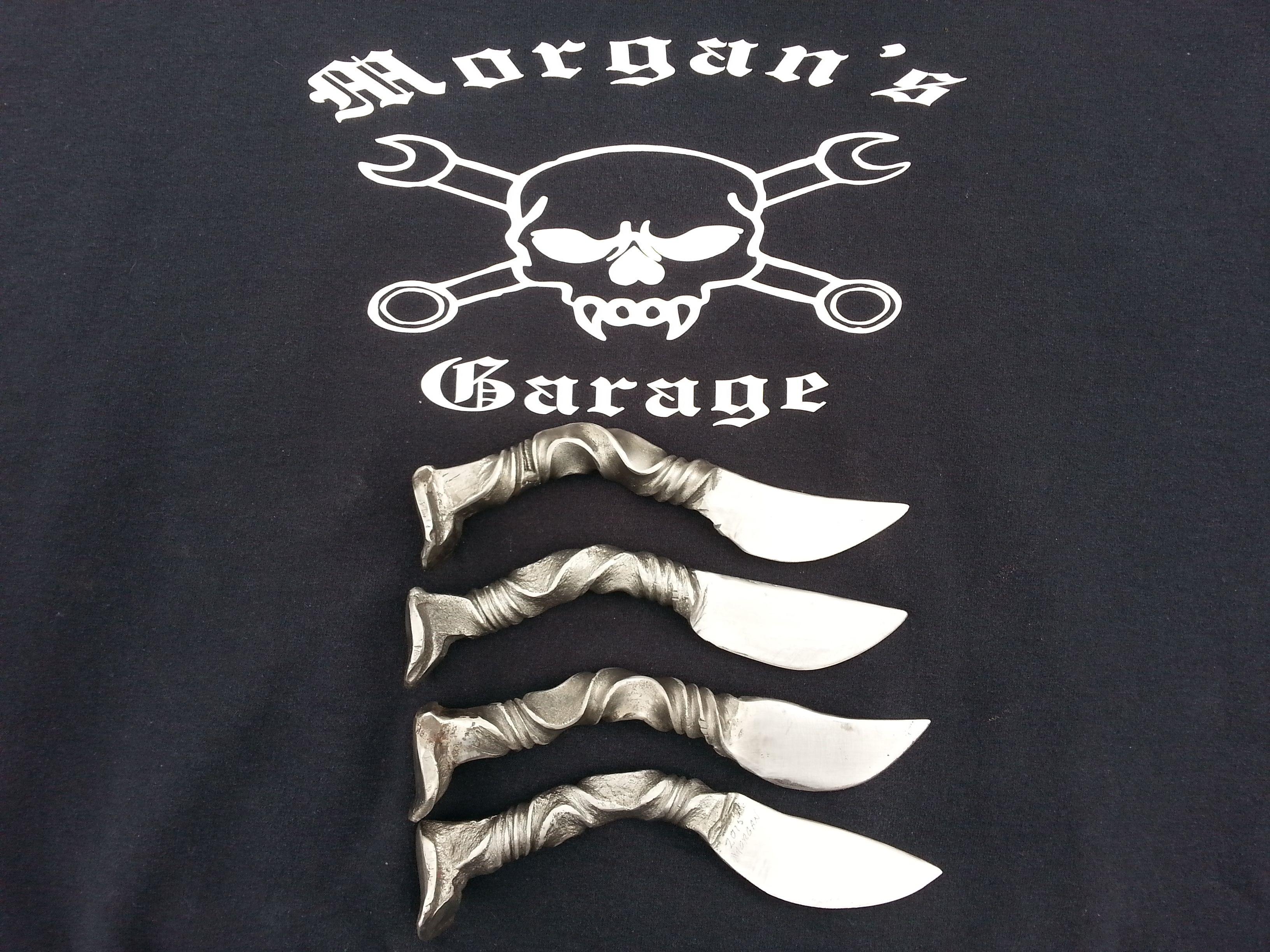 Handmade knives from Morgan's Garage