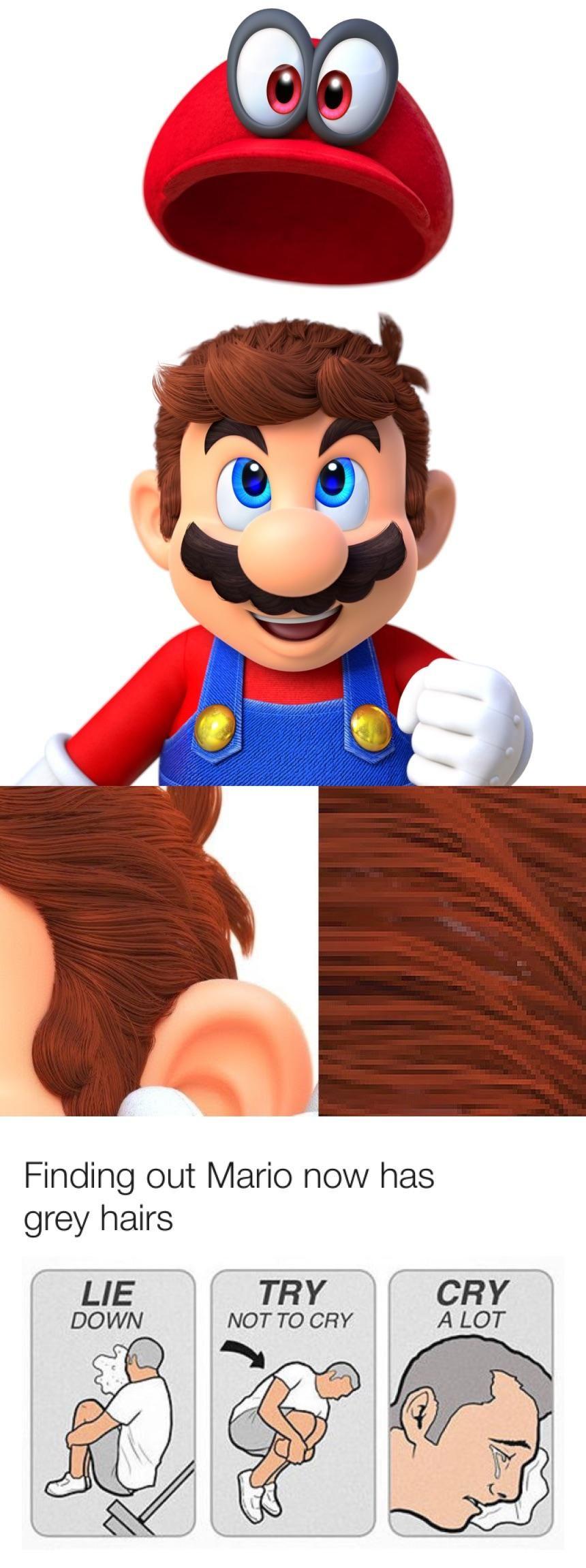 Fight The Tears Mario Odyssey Mario Memes Mario Funny Memes