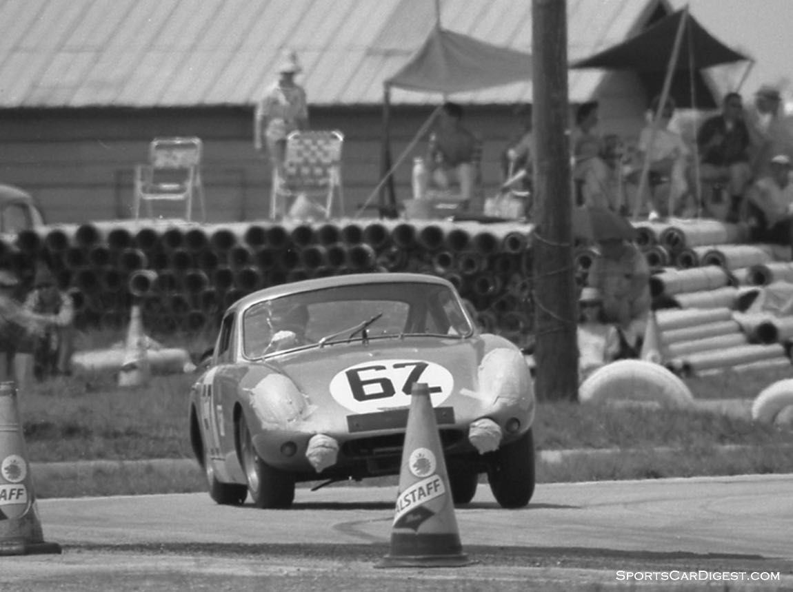 Paddy Hopkirk and Timo Makinen in their Austin-Healey Sebring Sprite ...