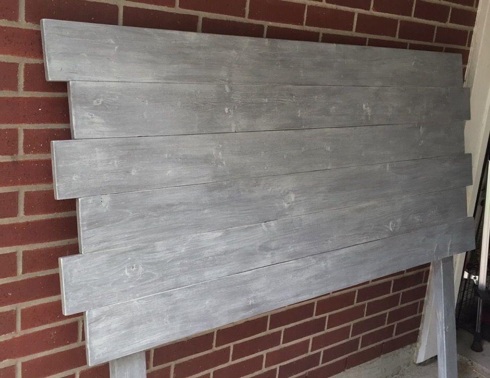 Diy Grey Whitewash Headboard Diy Woodheadboard Headboard