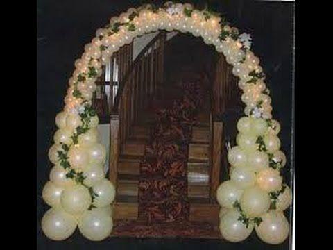 Decoraci n con globos para bodas youtube bodas pinterest globos para boda decoraci n - Decoracion de globos para bodas ...
