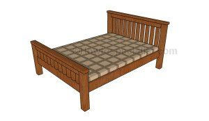 2x4 Full Size Bed Plans | HowToSpecialist - How to Build, Step by Step DIY Plans