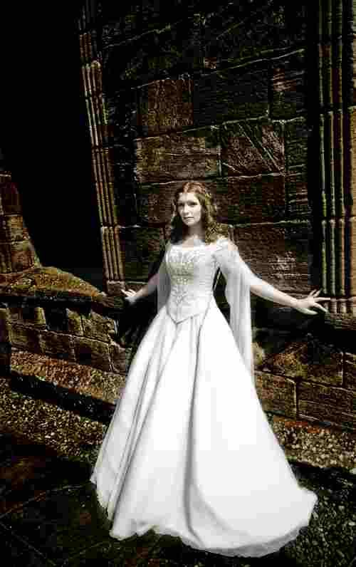 Renaissance clothing tags medieval wedding dresses for Celtic pagan wedding dresses