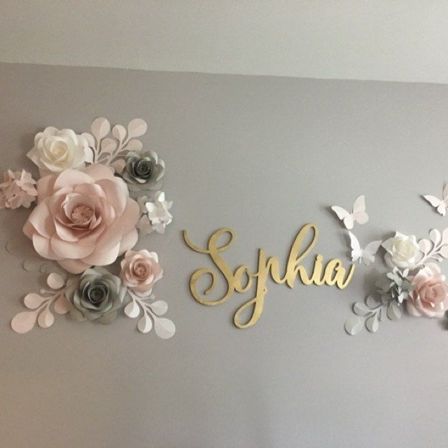 Planning to have charming paper flower arrangement above the crib? We have suggested this wonderful paper flowers set composition that would be perfectly assembled on the nursery wall, creating the most whimsical touches ever. We use only OUR Bespoke And Unique templates for paper flowers