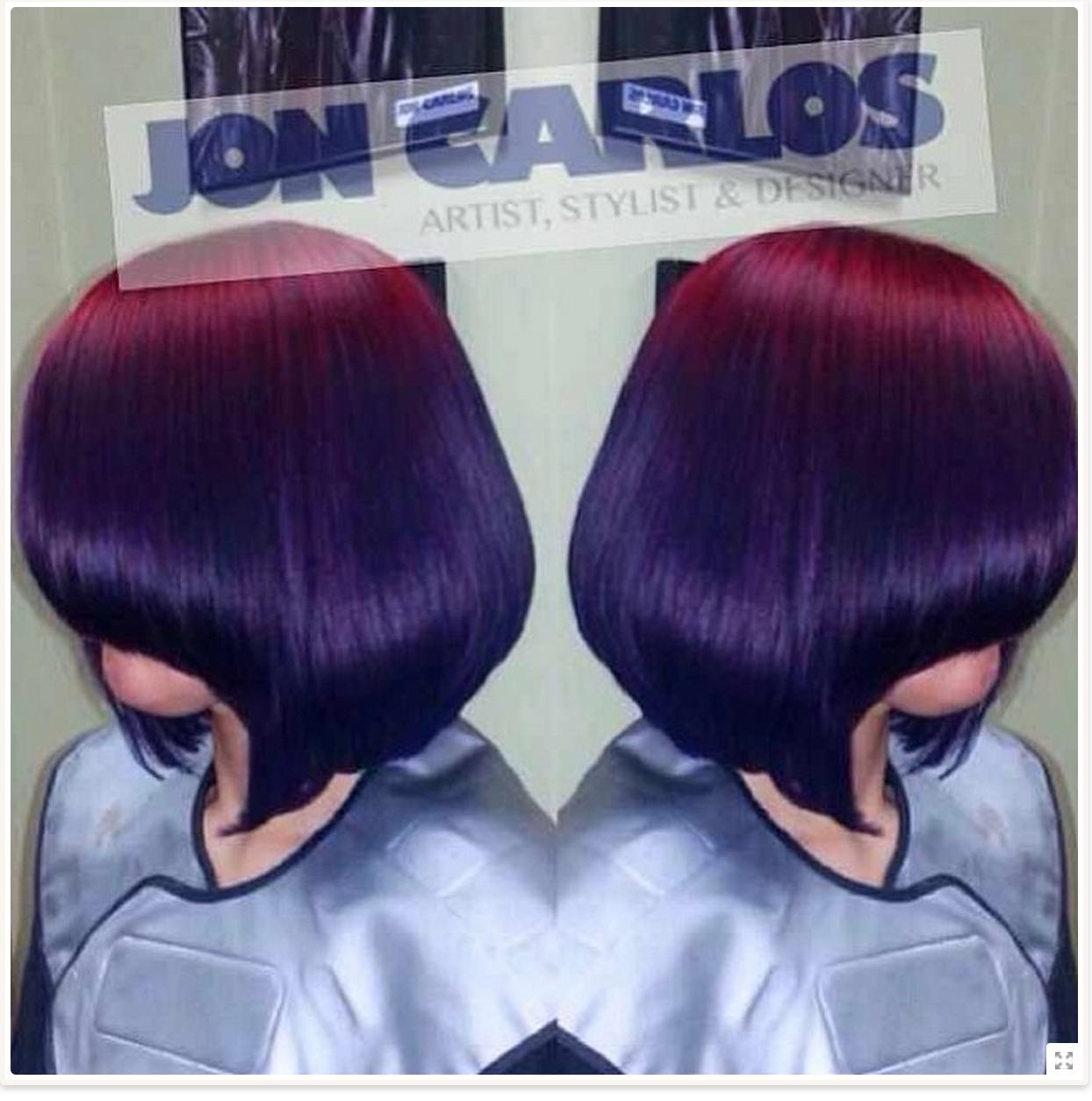 Red to violet pravana ombre hair pinterest ombre short braids