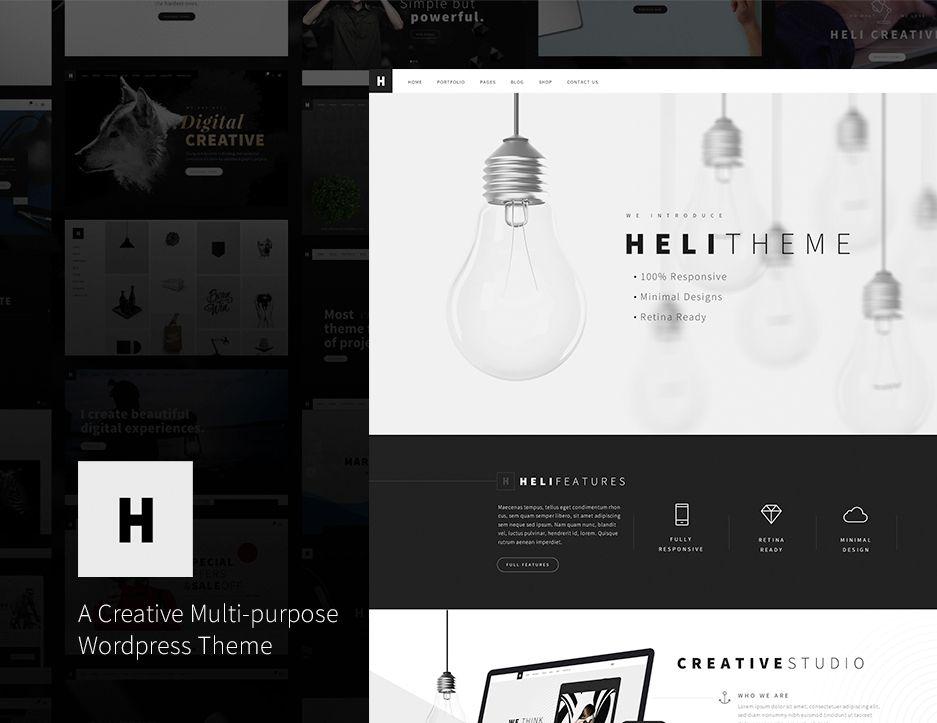 다음 @Behance 프로젝트 확인: \u201cHeli - Creative Multi-Purpose WordPress Theme\u201d https://www.behance.net/gallery/50441665/Heli-Creative-Multi-Purpose-WordPress-Theme