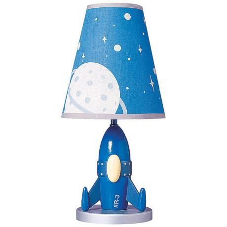 Rocket Table Google Search Lamp Outer E Bedroom Fabric Shades Blue