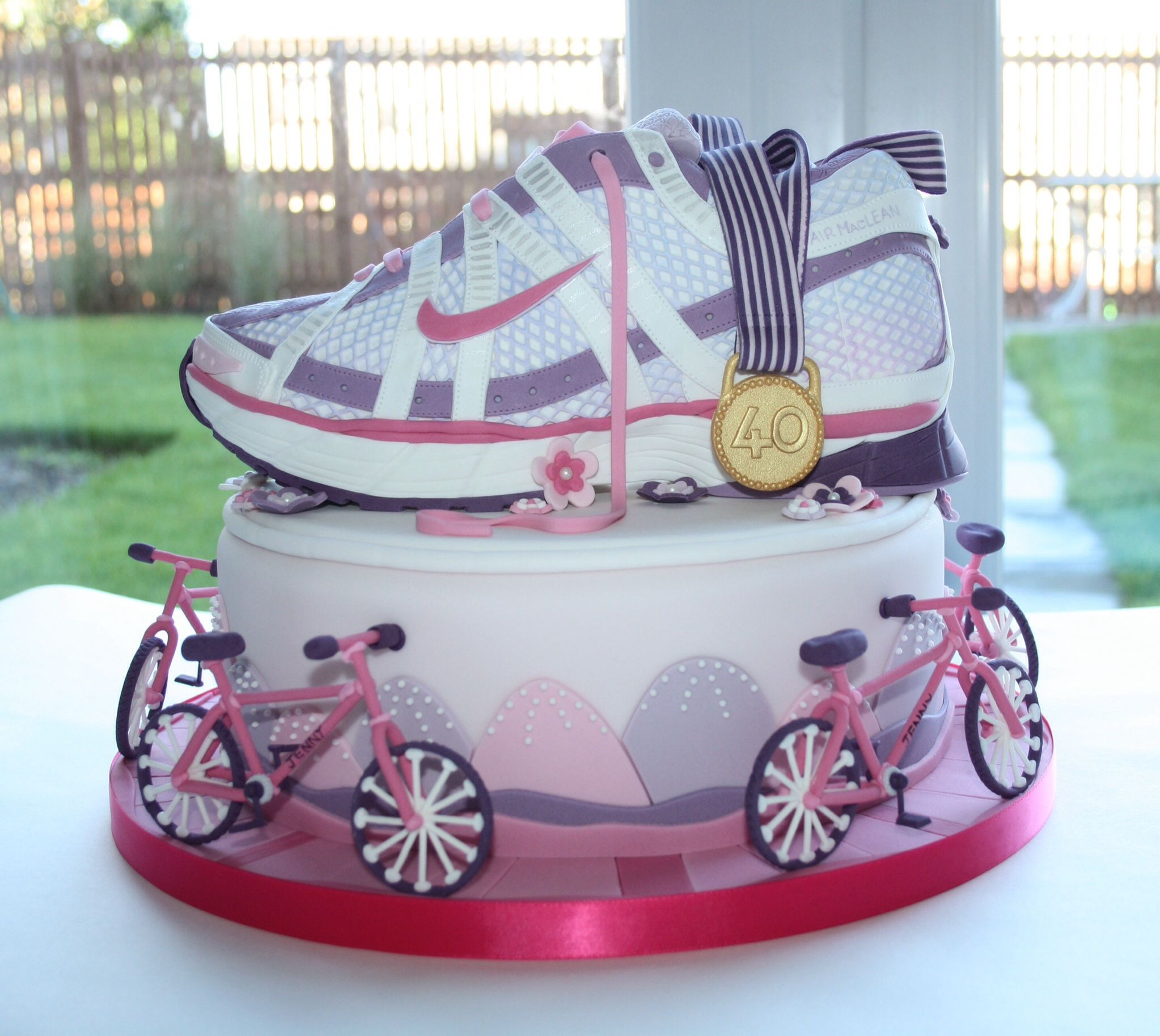 I Made This Ladies Running Shoe Trainer Cake For My Friends 40th